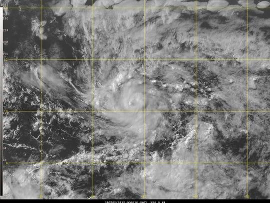 Tropical Storm Beryl forms 2:30 p.m. July 5, 2018.