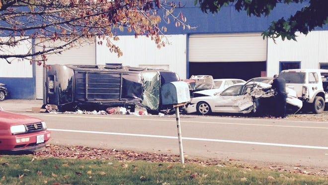 Crash on Pringle Road near McGilchrist on Wednesday.