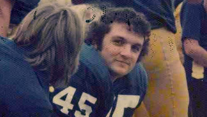 FILE — Daniel 'Rudy' Ruettiger, shown on the sidelines, during the 1975 season.