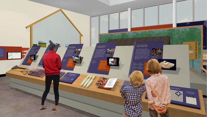 A rendering of the gallery area at Ganondagan's Seneca Art and Culture Center.