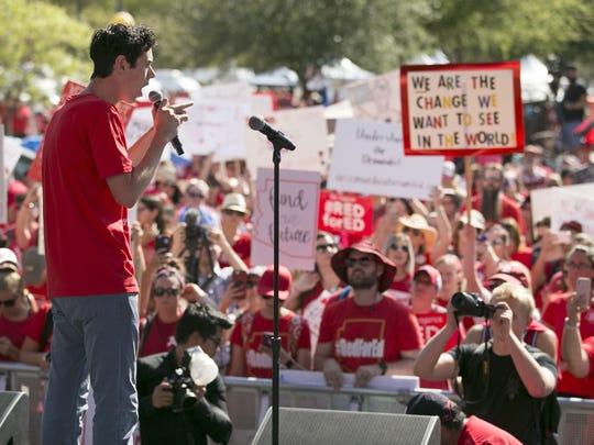 Noah Karvelis, a teacher and leader in Arizona Educators