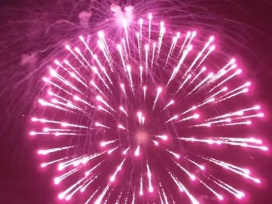 Fireworks at Lake Martin.