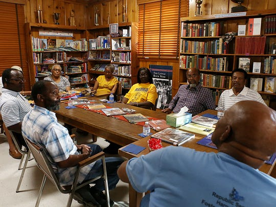 The Dunbar Historical Library hosted a Living History Round Table Discussion for the Blackshear Ex-Students Association to share memories ahead of their 43rd school reunion July 2, 2018.