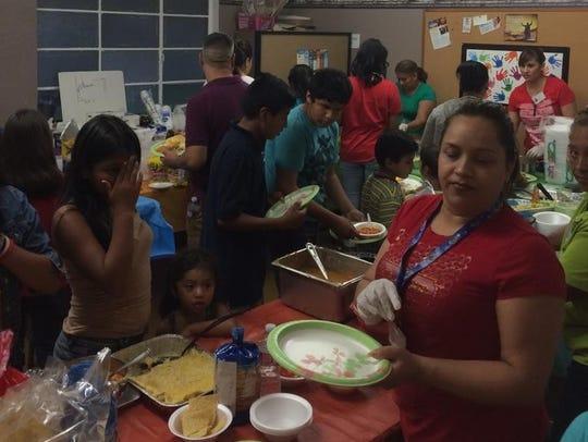 Hubo comida mexicana muy tradicional durante el evento.