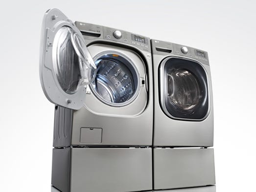 Washer-dryers, such as this Turbowash model, are among