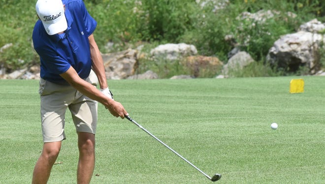 Mountain Home's Chris Wehmeyer hits a shot during a recent match at Big Creek Golf & Country Club.