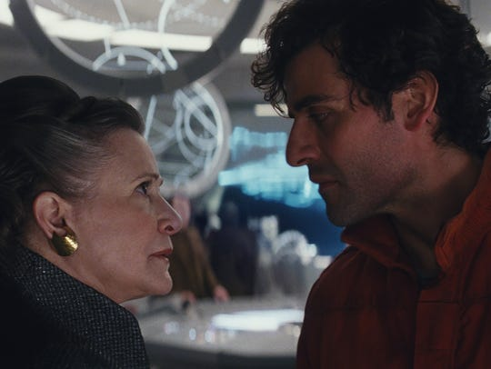 General Leia Organa (Carrie Fisher) gives an order