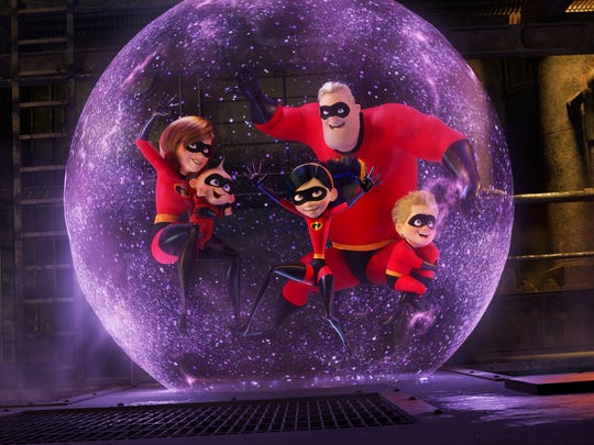 "The Parr family is back in action in ""Incredibles 2,"" the sequel to Pixar's 2004 animated hit."