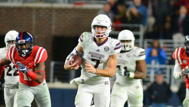 Mississippi State quarterback Nick Fitzgerald rushed for nearly 1,300 yards in his first season as a starter.