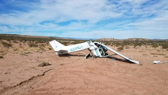 A fixed-wing, single engine Cessna aircraft crashed near the Hatch Airport on Saturday. The wreckage was found Sunday. All four people on board died.