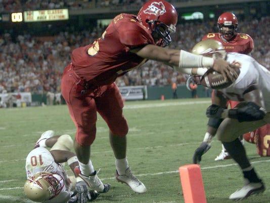 Seneca Wallace touchdown?