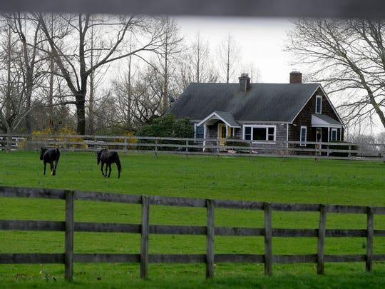Exteriors of Hockhockson Farm, a historic farm which