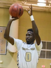 Guard Tyrec Thompson leads the Treasure Coast High School boys basketball team in scoring with 16.6 points per game.