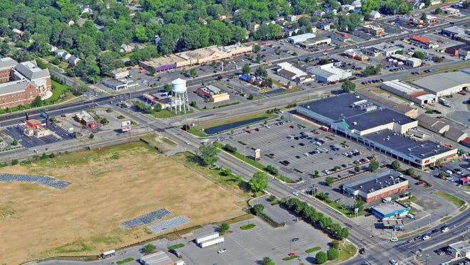 Seen on the right side of this file photo is the College Square shopping center on College Avenue in Salisbury. Rockford Capital Partners bought the center for $8.5 million last month.