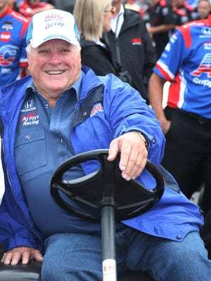 May 16, 2015: Verizon IndyCar Series owner A.J. Foyt watches qualifications for the 2015 Indianapolis 500 at Indianapolis Motor Speedway.