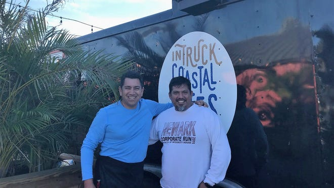 Martin Rojas and Frank Rosas are the owners of Intruck Coastal Bites at Intracoastal Brewing Company.