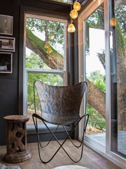 Interior designer Alexis King created this modern shed