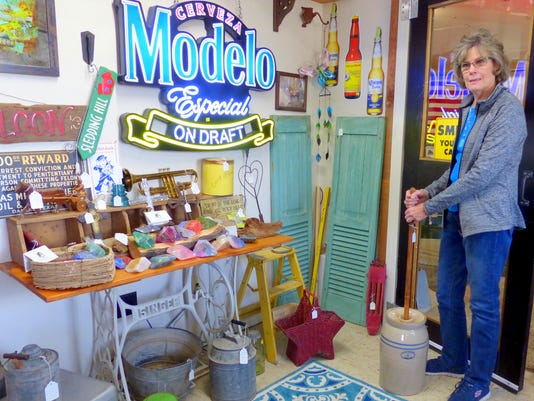 kay pendergrass in her shop