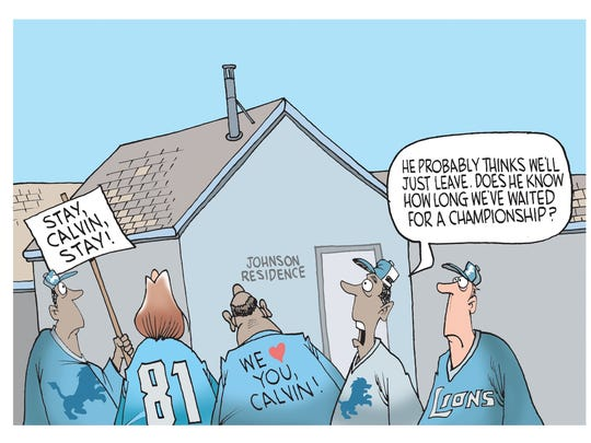 Calvin Johnson cartoon caption winner!