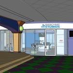 A rendering of the Seacrest Studios to be built inside Vanderbilt Children's Hospital.