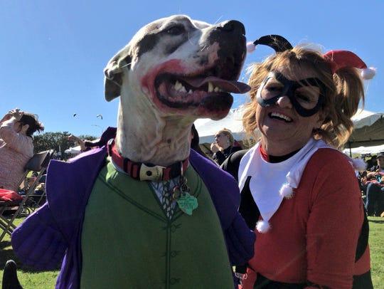 Susan McCuuler and her dog Bozer take on DC's favorite