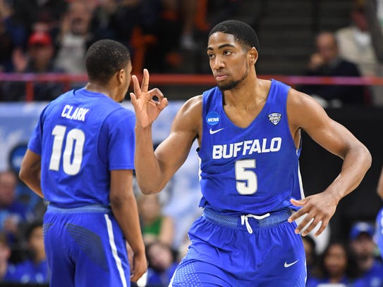 Buffalo reached the second round of the NCAA tournament by beating Arizona. The Bulls wouldn't have been in at all if they hadn't won their conference tournament.