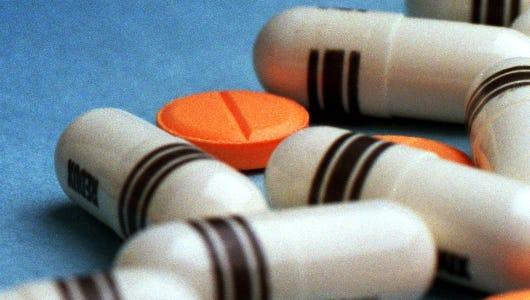 Assorted prescription drugs.