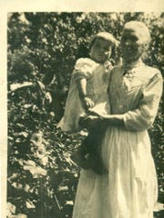 A circa 1916 photo of Mary Ellen Cullen at 20 Fletcher Place in Burlington with her granddaughter Elizabeth, mother of Martha Lang of Burlington, at 20 Fletcher Place in Burlington. Lang is proposing to build a triplex at 20 Fletcher Place named Elizabeth's Place in honor of her mother.
