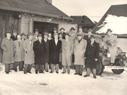 The founding members of the Bloomfield Village Fire Department circa 1942.