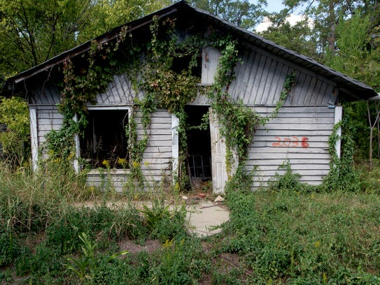 The house at 2036 Luverne Street is up for demolition