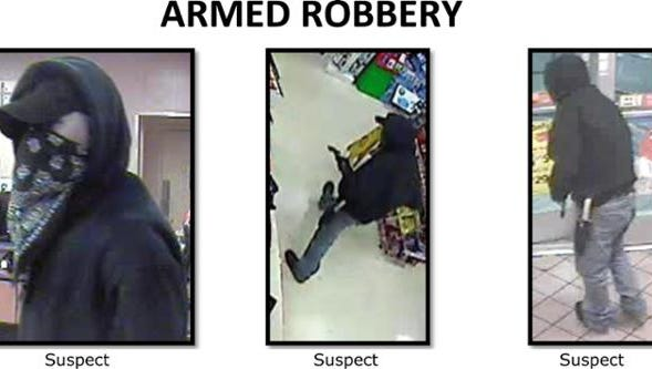 Armed robber at Circle K, 7 eleven and Domino's Pizza.