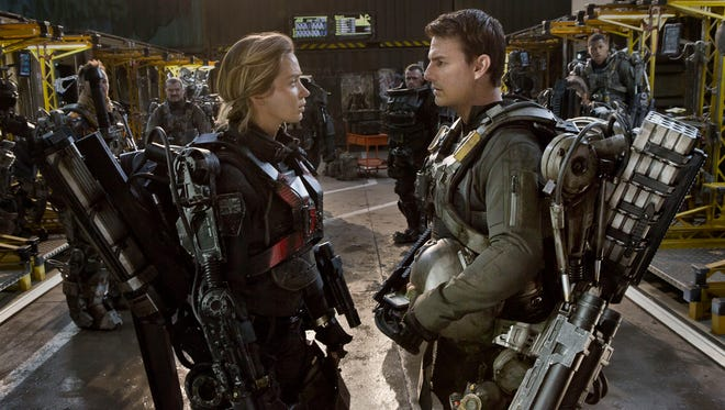 """Emily Blunt and Tom Cruise star in """"Edge of Tomorrow."""""""