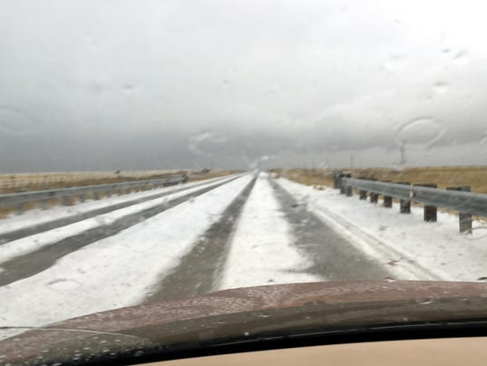 hail on US380