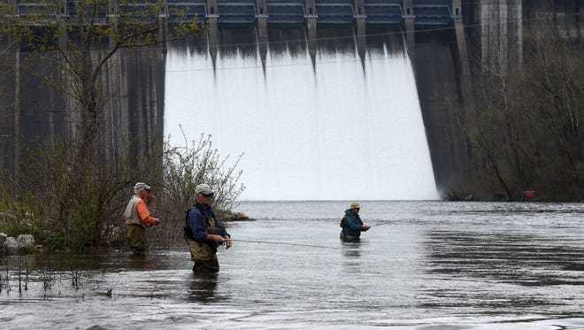 With the spillway gates open at Norfork Dam, there is very limited wade fishing currently taking place by fly fishermen on the North Fork River.