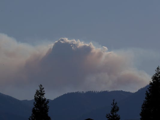 Flat Fire in Trinity County