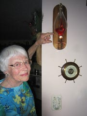 "LuBell Kendall points to a ""liquid barometer"" in her"