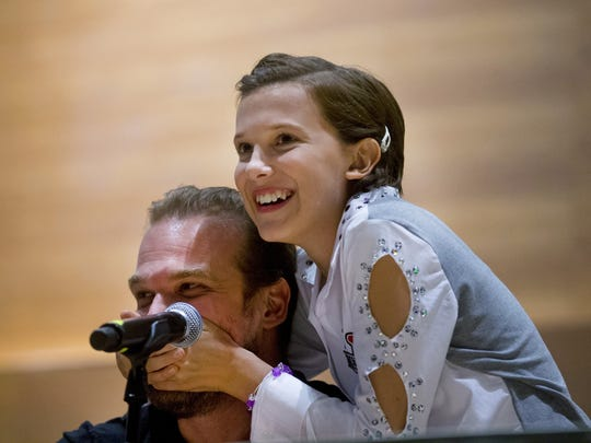 Actress Millie Bobby Brown tries to keep actor David
