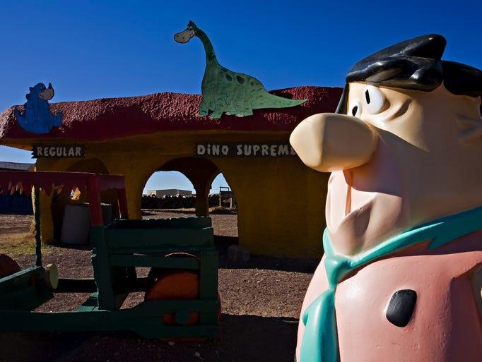 Visit with Fred Flintstone in Bedrock City.