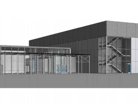 A rendering of the proposed Dakota State University Madison Cyber Labs building by JLG architects