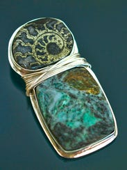 Zoe De Negri's  jewelry is hand made from recycled