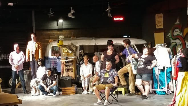 """""""Two on the Aisle, Three in a Van"""" runs through Oct. 14 at Riverfront Playhouse."""