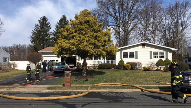 A 75-year-old man died and his 70-year-old brother was injured in an early-morning three-alarm house fire Wednesday on Livingston Avenue in Edison.