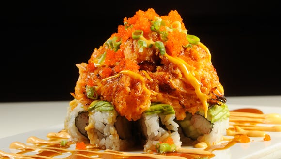 The volcano roll is one of many offerings at Rock-n-Sake,