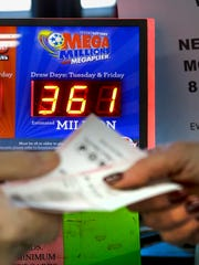 The lottery machines were busy at Bucks Super Market