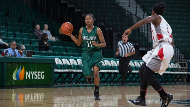 Binghamton University guard Imani Watkins.