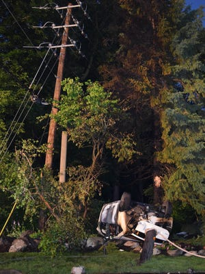 A motorist died early in the  morning of Saturday, June 25, 2016, after a car crashed and caught fire on 79th Street at the intersection of River Road on Indianapolis' northeast side.