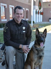 Tippecanoe County sheriff's Deputy Jonathon Ringo and his K9 partner, Britt, begin patrolling the county next week.