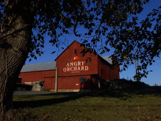 Angry Orchard's 60-acre farm in Walden, Orange County.