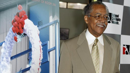 """In a June 9, 2008 file photo, the Rev. Samuel """"Billy"""" Kyles arrives at a screening of """"The Witness: From the Balcony of Room 306"""" in Los Angeles. Kyles, a longtime civil rights leader who was present when Dr. Martin Luther King Jr. was assassinated, died Tuesday in Memphis. He was 81."""