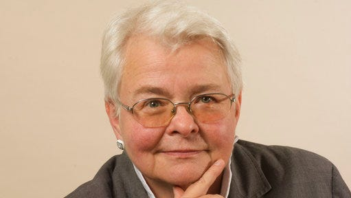 """This 2014 photo released by Sam Rudy Public Relations shows Pulitzer Prize winning playwright Paula Vogel. Her current play """"Indecent"""" is currently on Broadway at the Cort Theatre in New York."""